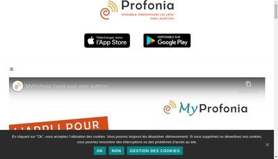 Site internet de Profonia