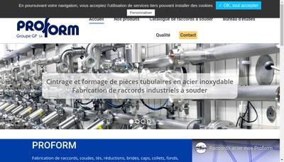 Site internet de Proform