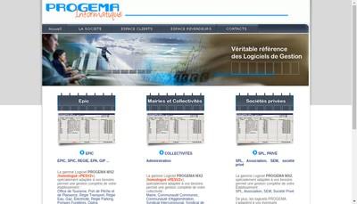 Site internet de Progema Gestion