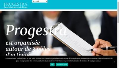 Site internet de Progestra
