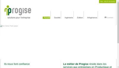 Site internet de Progise