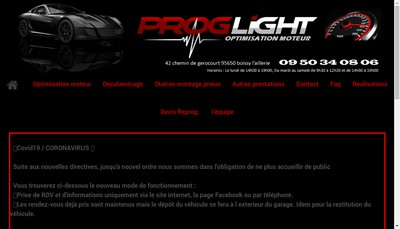 Site internet de Proglight