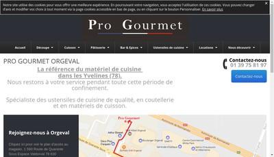 Site internet de Pro Gourmet