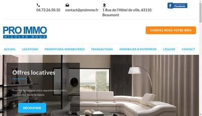 Site internet de EURL Pro Immo
