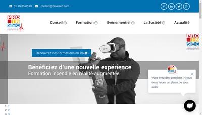 Site internet de Proinsec