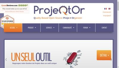 Site internet de Projeqtor