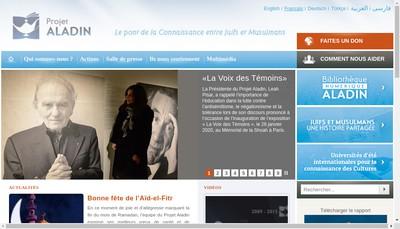 Site internet de Association Projet Aladin