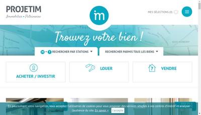 Site internet de Projetim