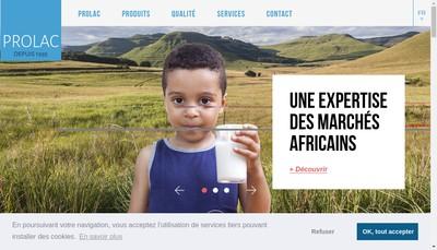 Site internet de Prolac
