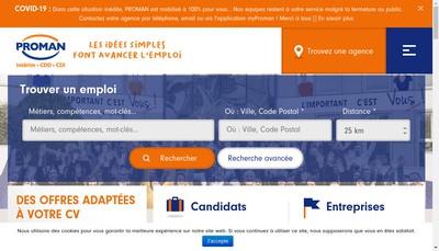 Site internet de Proman
