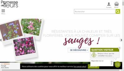 Site internet de Promesse de Fleurs