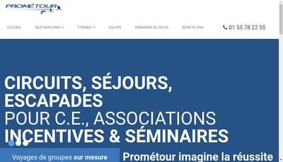 Site internet de Prometour Europe