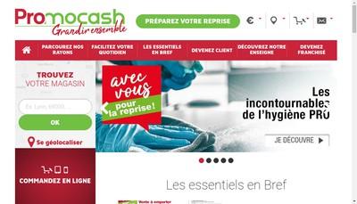 Site internet de Promocash Avec Vous