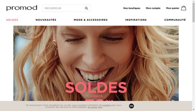 Site internet de Promod