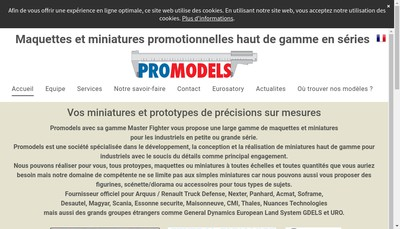 Site internet de Promodels