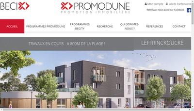 Site internet de Promodune