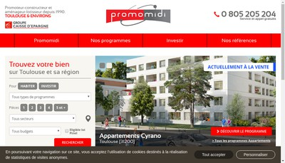 Site internet de Groupe Promo Midi