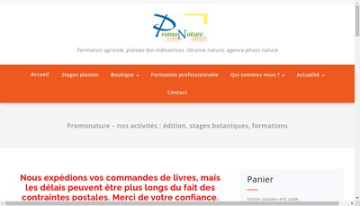 Site internet de Promonature