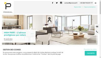 Site internet de Promoval Partenaires