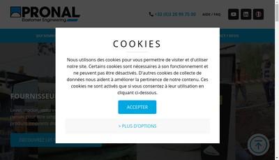 Site internet de Pronal