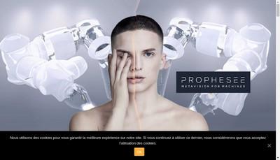 Site internet de Prophesee