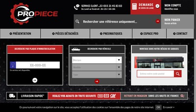 Site internet de Propiece-Lille