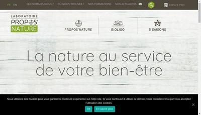 Site internet de Propos'Nature