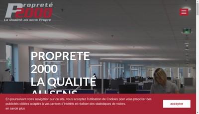 Site internet de Proprete 2000
