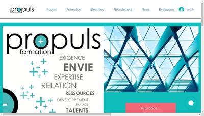 Site internet de Propuls Formation