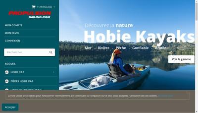 Site internet de Propulsion Sailing