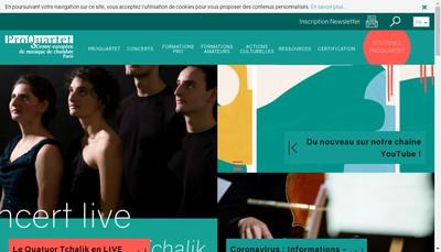 Site internet de Pro Quartet Centre Eur Musique Chambre