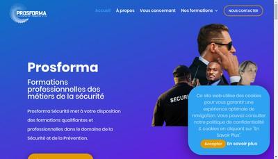 Site internet de Prosforma