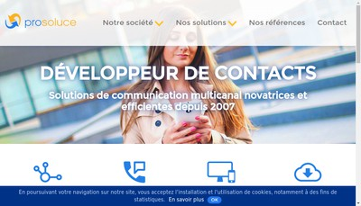 Site internet de Prosoluce