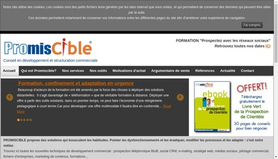 Site internet de Promiscible