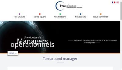 Site internet de Prospheres