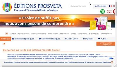 Site internet de SA Editions Prosveta