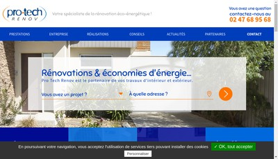 Site internet de Pro Tech Renov