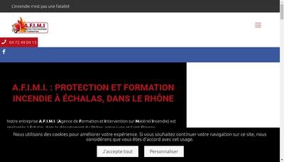 Site internet de Ag Formation Intervention Mat Incendie