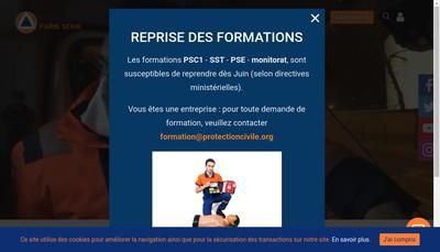 Site internet de Protection Civile Paris Seine