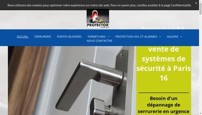 Site internet de Societe Protector 16