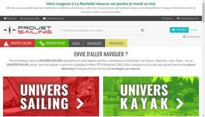 Site internet de Proust Catamarans