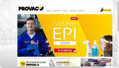 Site internet de Provac