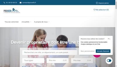 Site internet de Provefa