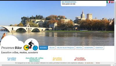 Site internet de Provence Bike