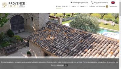 Site internet de Provence Home