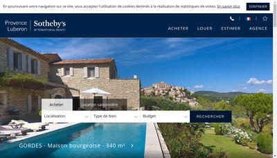 Site internet de Prop Luberon Sotheby'S Int Realty