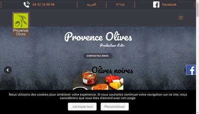 Site internet de Provence Olives Export - Poe