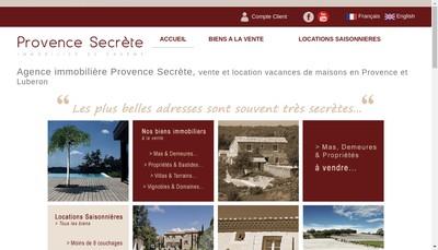 Site internet de Provence Secrete