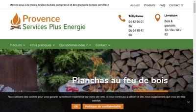 Site internet de Provence Services Plus Energie