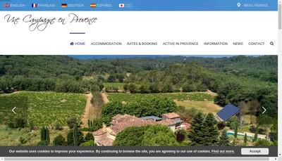 Site internet de Une Campagne en Provence